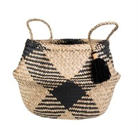 Seagrass Tribal Pom Pom Storage Basket