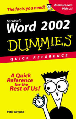 Word 2002 For Dummies: Quick Reference by Peter Weverka image