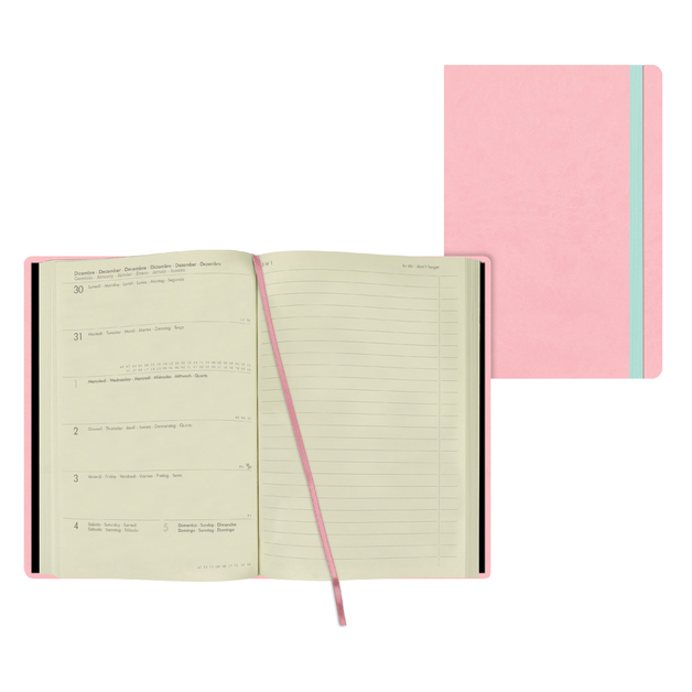 Legami: Medium Weekly 12 Month 2021 Diary with Notes - Pink (12 x 18cm)