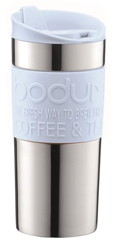 Bodum: Double Wall Travel Mug Stainless Steel - Pastel Blue (350ml)