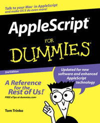 Applescript for Dummies, 2nd Edition by Tom Trinko image