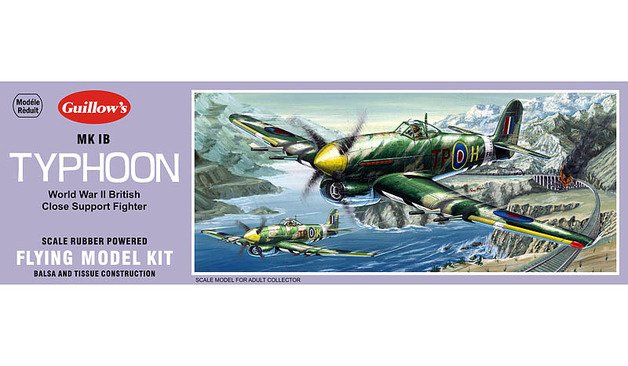 British Typhoon IB 1/28 Balsa Model Kit