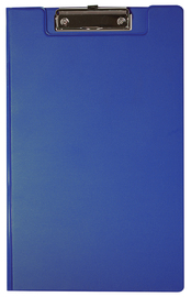 FM Foolscap PVC Clipboard With Flap - Blue