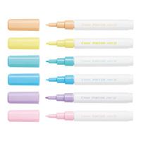 Pilot: Pintor Extra Fine Marker - Pastels (6 Pack)