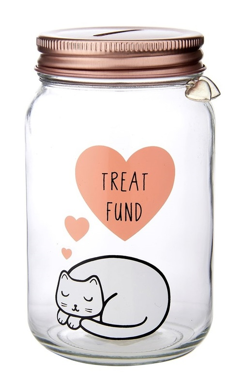 Sass & Belle: Cutie Cat Treat Fund - Money Jar