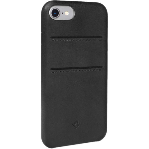 Twelve South Relaxed Leather case w/pockets for iPhone 7/6/6S (Black)