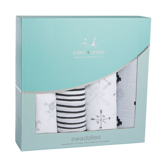 Aden + Anais: Classic Swaddle - Lovestruck (4 Pack Swaddling Wraps)