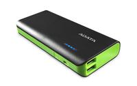 ADATA: PT100 10,000mAh Powerbank with Flashlight - Black/Green