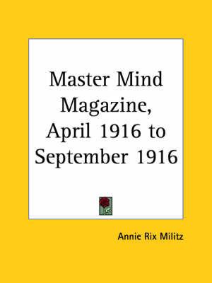 Master Mind Magazine (1916): v. 10 image