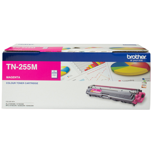 Brother TN-255M High Yield Toner (Magenta)