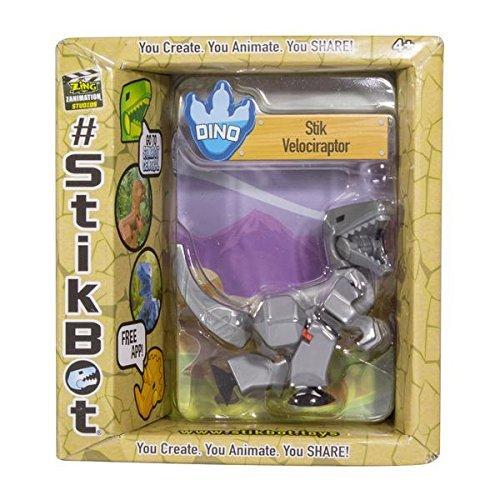 Stikbot: Dino Single - Velociraptor (Silver)