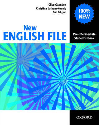 New English File Pre-intermediate: Student's Book by Clive Oxenden image