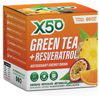 Green Tea X50 + Resveratrol - Tropical (60 serves)