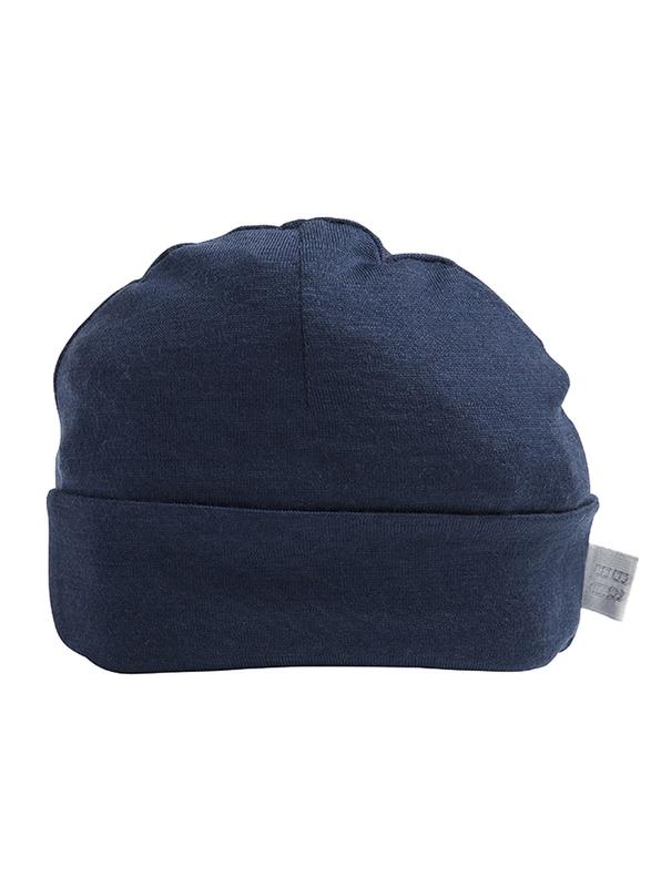 Babu: Merino Wool Hat - Navy (New Born)