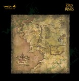 Lord of the Rings: Parchment Map of Middle Earth - by Weta