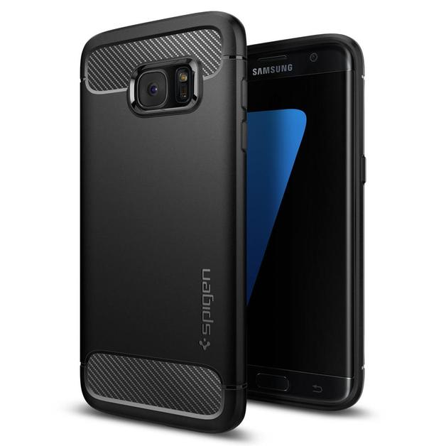 Spigen: Galaxy S7 Edge - Rugged Armor Case (Black)