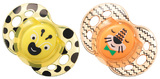 Closer to Nature Fun Style Soother 6-18 Months (Yellow and Orange) - 2 Pack