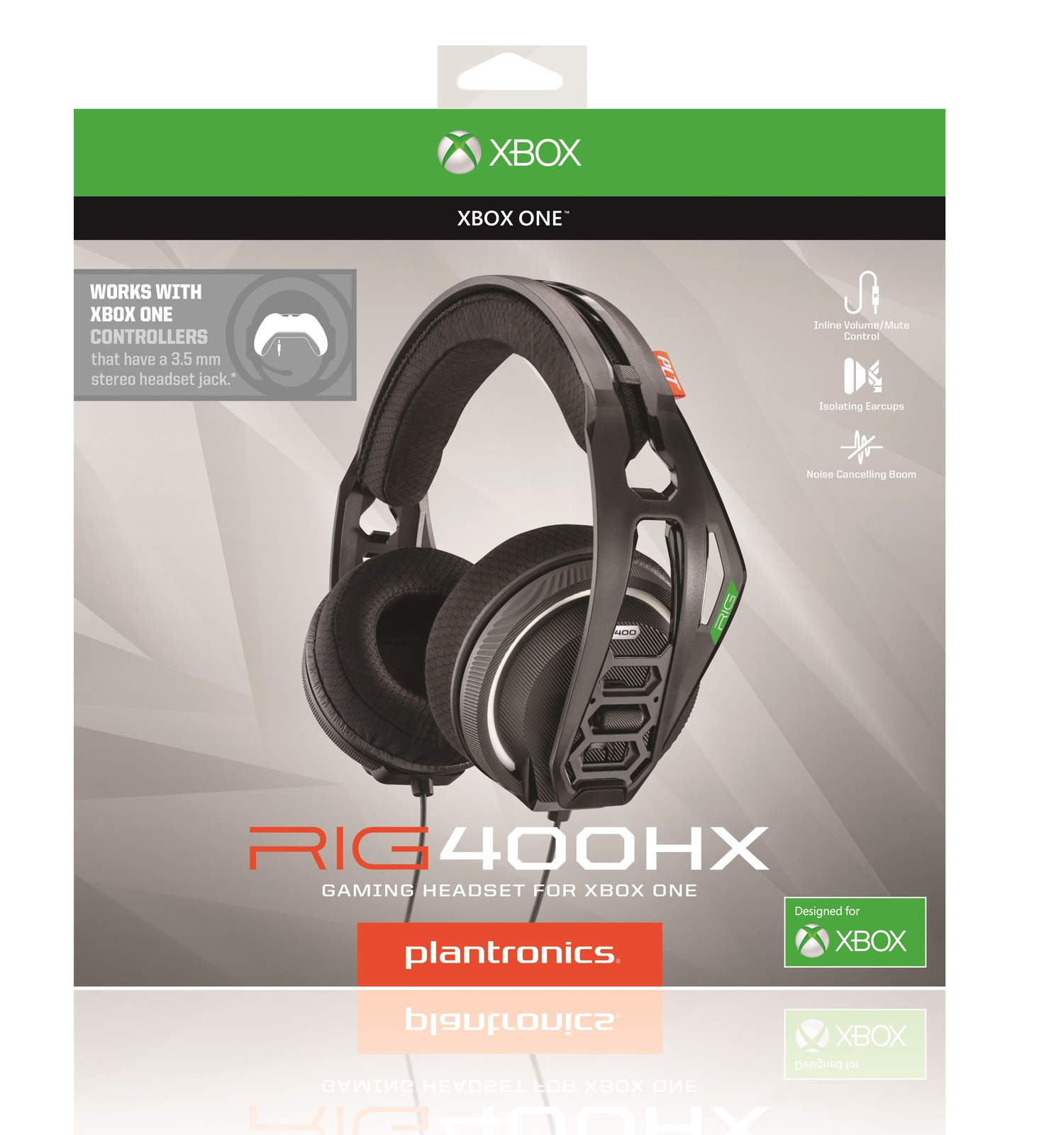Plantronics RIG400HX Xbox One Gaming Headset for Xbox One image