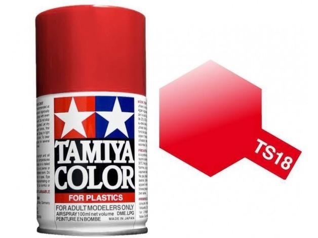 Tamiya TS-18 Metallic Red - 100ml Spray Can