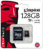 128GB Kingston MicroSDHC Card with SD Adapter (Class 10 UHS-I)