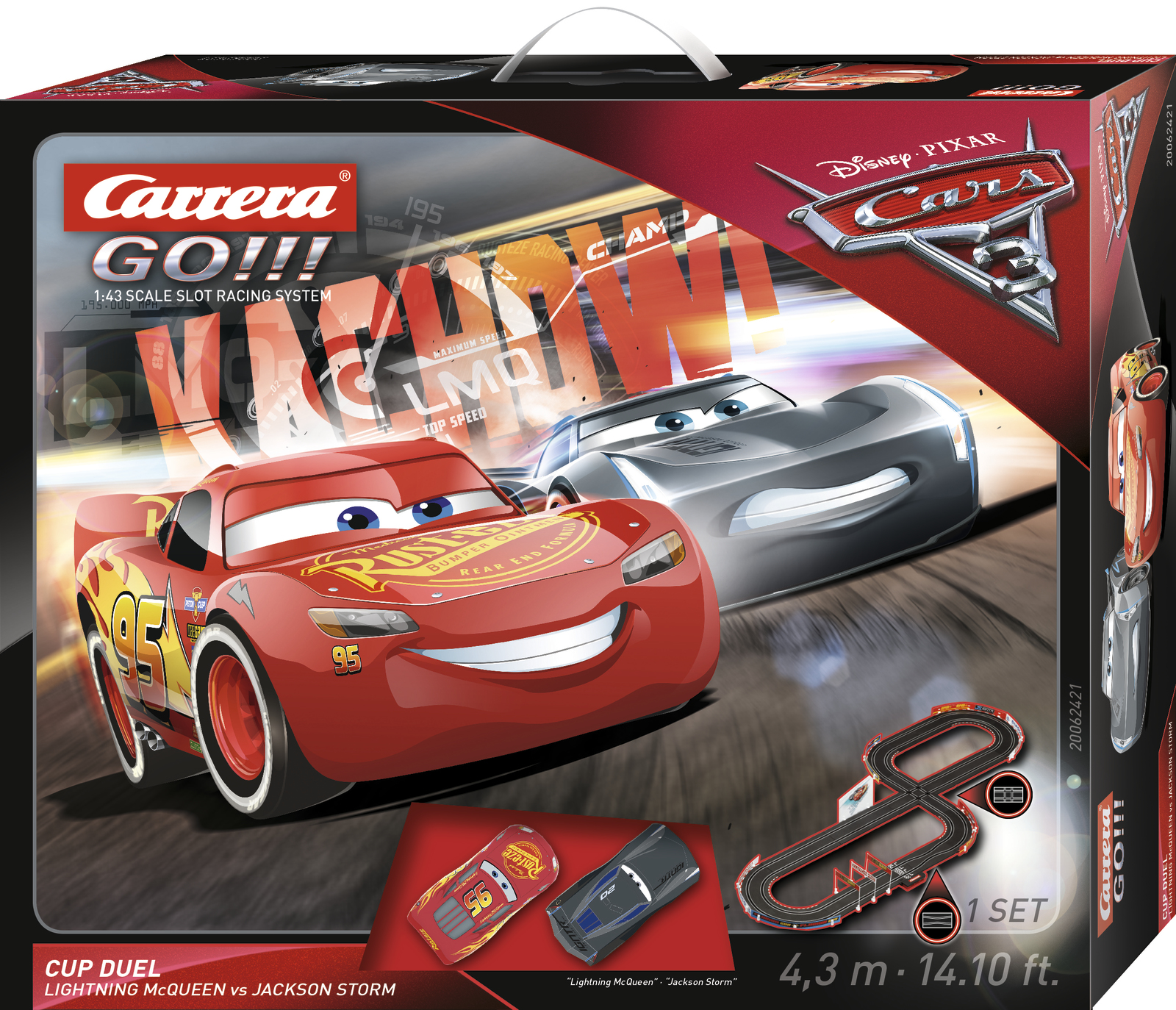 carrera go disney cars 3 cup duel toy at mighty ape. Black Bedroom Furniture Sets. Home Design Ideas