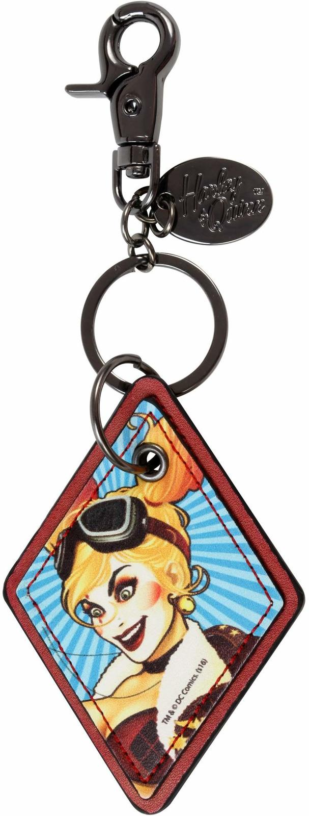 Harley Quinn: Faux Leather Keychain image