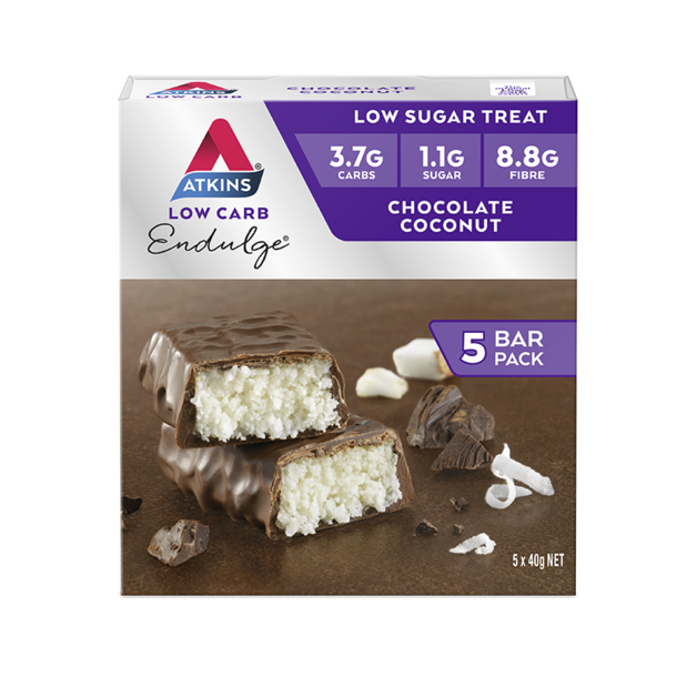 Atkins Endulge Bars - Chocolate Coconut (5 x 40g)