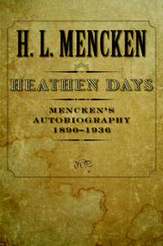 Heathen Days: Volume 3 by H.L. Mencken image