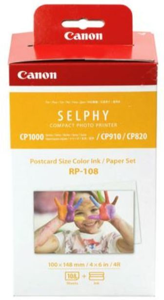 Canon RP-108 Selphy 6x4 Photo Paper & Ink Kit (108 Sheets)