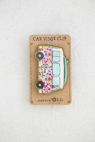 Natural Life: Car Visor Clip - Van Bless This Ride