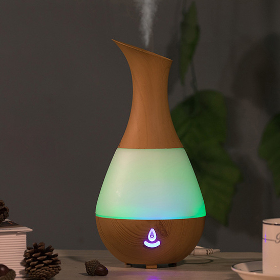 USB Bluetooth Speaker Aroma Air Diffuser - Lightwood image
