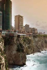 Shoreline of Beirut Lebanon Journal by Cool Image image