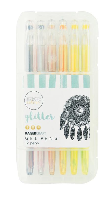 Kaisercraft: Gel Pens - Glitter Colours (Box of 12)