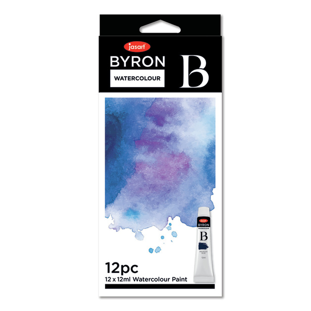Jasart: Byron Paint - Watercolour (12ml / Set of 12)