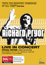 Richard Pryor - Live In Concert: Special Edition + Comic On The Edge on DVD