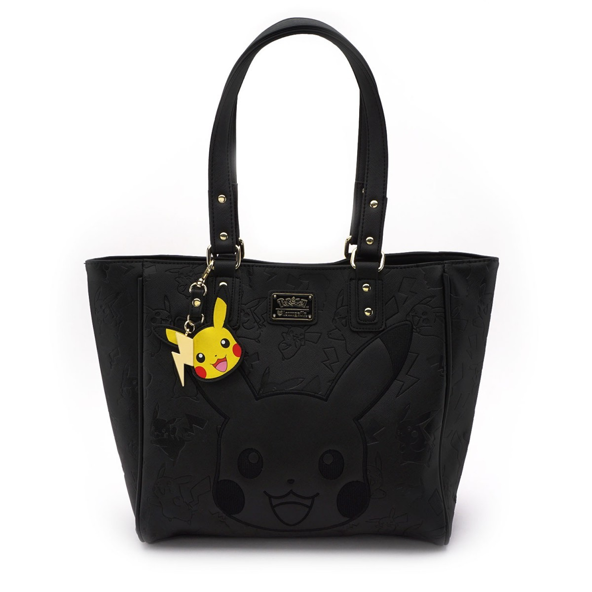Loungefly Pokemon Pikachu Black Embossed Tote image