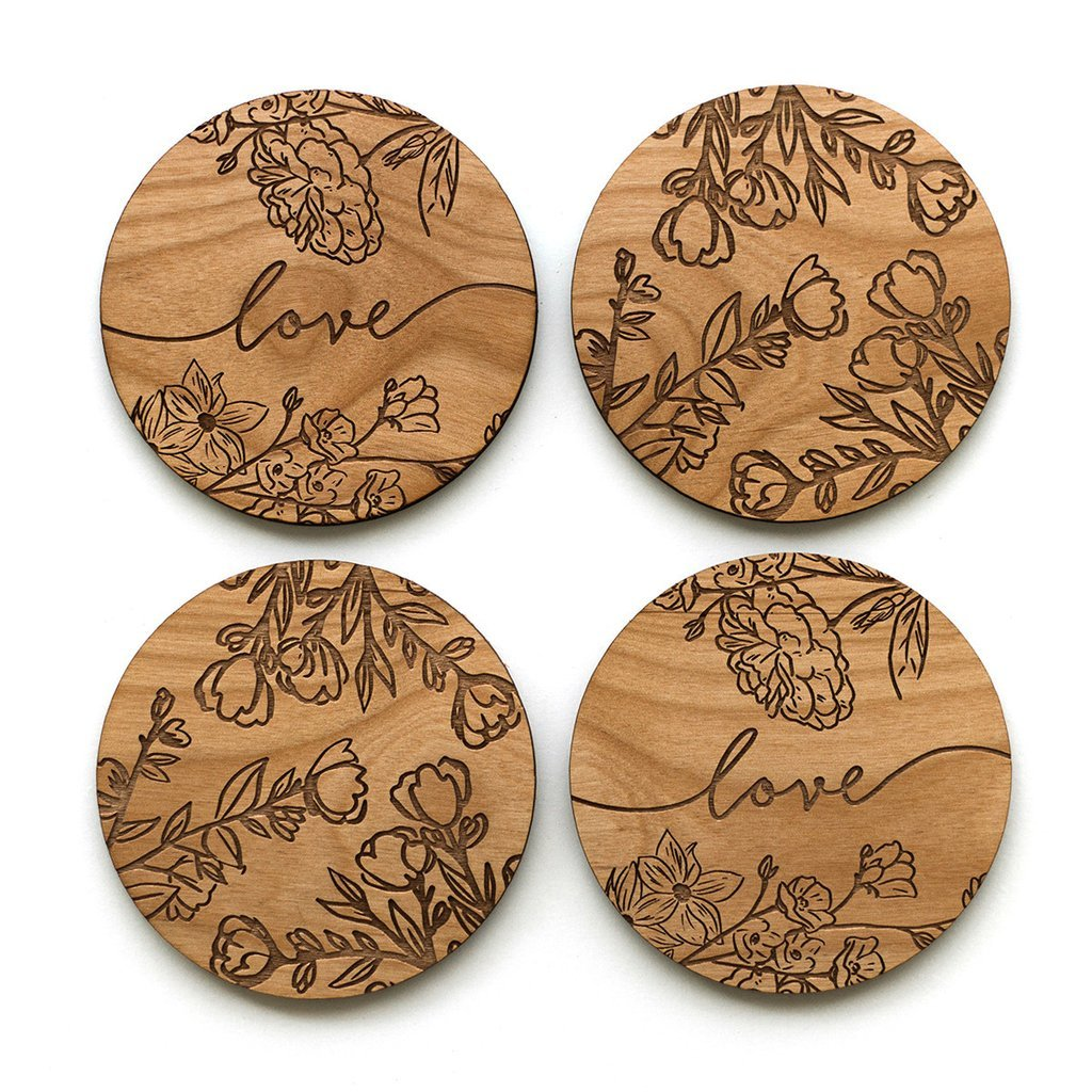 Cardtorial Rose Branches Coasters image
