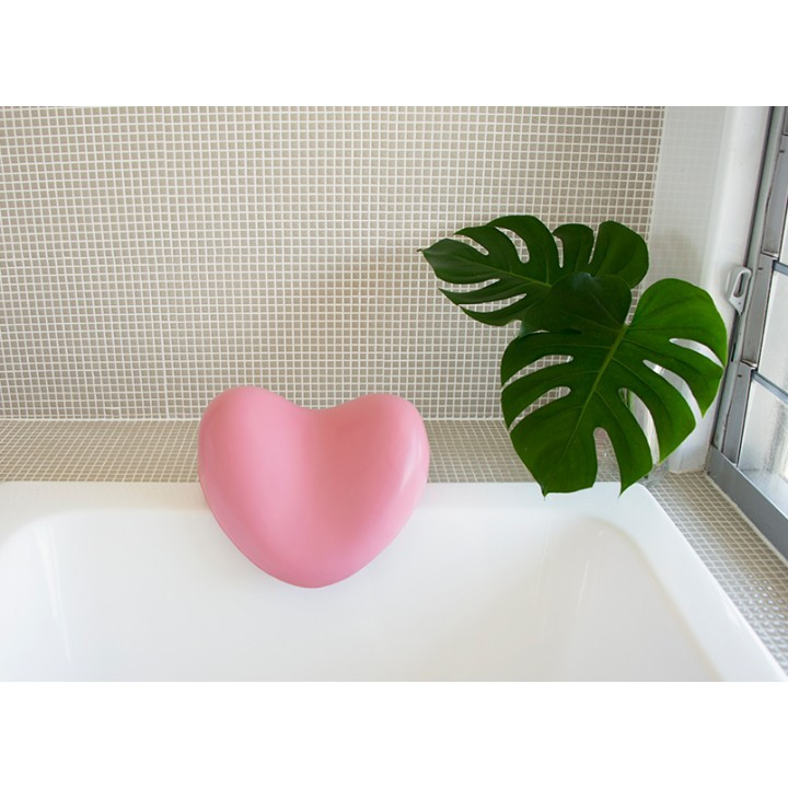 Bath Pillow Heart - Pink image