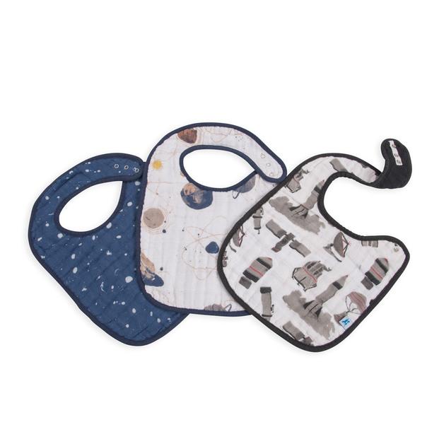 Little Unicorn: Muslin Classic Bib - Planetary (3 Pack)