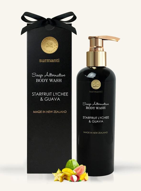 Surmanti Body Wash Soap Alternative - Starfruit, Lychee & Guava (300ml)
