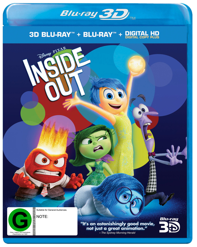 Inside out blu ray 3d on sale now at mighty ape australia