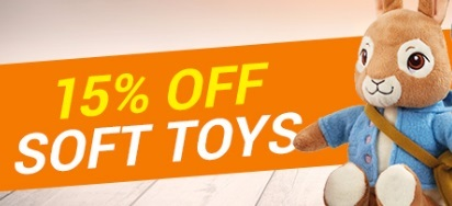 15% off Soft Toys!