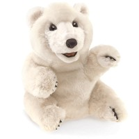 Folkmanis: Sitting Polar Bear - Plush Puppet