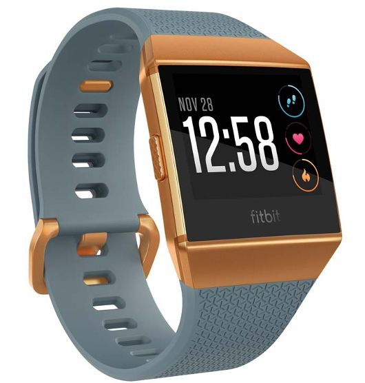 Fitbit Ionic Smart Fitness Watch Blue and Burnt Orange image