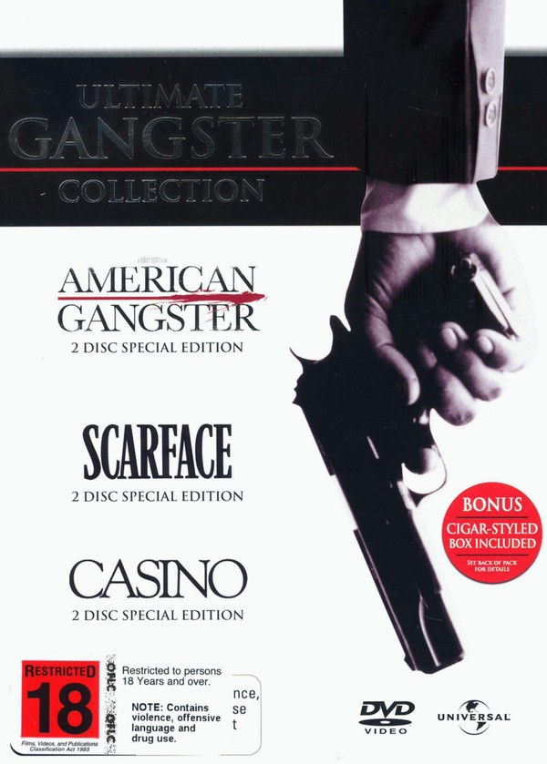 Ultimate Gangster Collection (American Gangster / Scarface / Casino) (6 Disc Box Set) on DVD image
