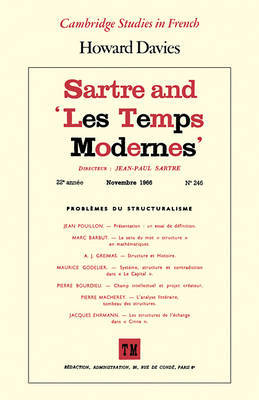 Sartre and 'Les Temps Modernes' by Howard Davies