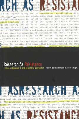 Research as Resistance: Critical, Indigenous, and Anti-Oppressive Approaches image