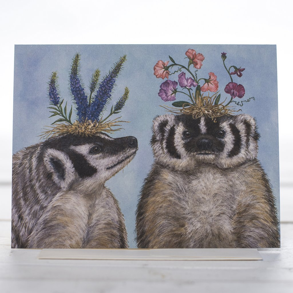Hester & Cook: Thank You Badger Sisters - Greeting Card image