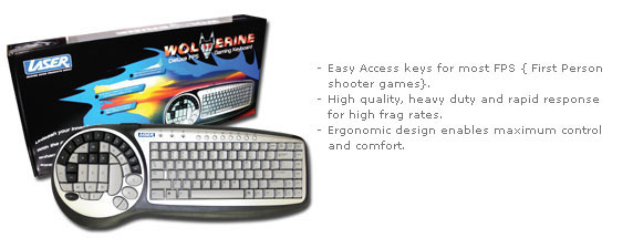 Laser Wolverine Deluxe FPS Gaming Keyboard for
