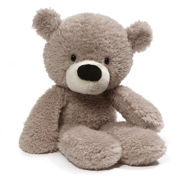 "Gund: Fuzzy Grey Bear - 13"" Plush"